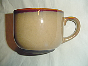 Sango Nova Brown Jumbo Soup Mugs