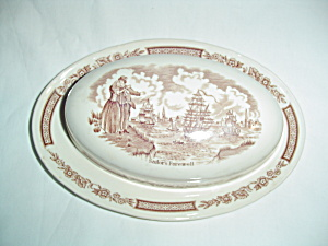 Alfred Meakin Fair Winds Covered Butter Dish