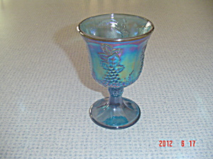 Indiana Glass Carnival Blue Grapes Water Goblet (Image1)