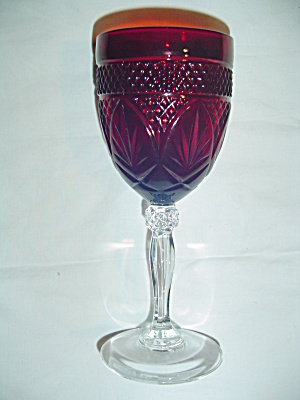 Luminarc France Red Wine Glasses Cris D'arques/durand Arty-red