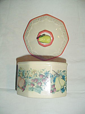 Avon Sweet Country Harvest Covered Candy Dish