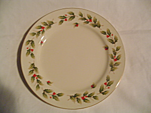 World Bazaar Holly And Berries Pattern Salad Plates