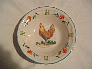 Noritake Epoch Red Rooster Cereal Bowls