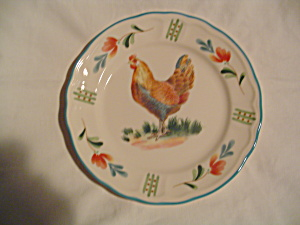 Nortake Epoch Red Rooster Salad Plates