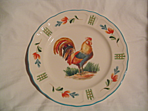 Nortake Epoch Red Rooster Dinner Plates