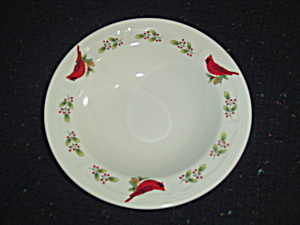 Gibson Cardinal Rimmed Soup Bowls