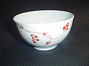 Mikasa Gourmet Basics Red Berries Soup/cereal Bowls