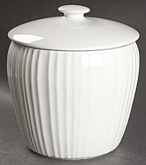 Corning Ware French White Covered Canister Or Cookie Jar
