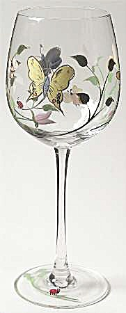 Lenox Butterfly Meadow Wine Goblets/glasses
