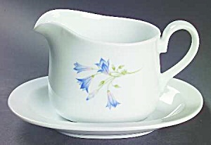 Corelle Coordinates Blue Dusk Gravy Boat And Under Plate