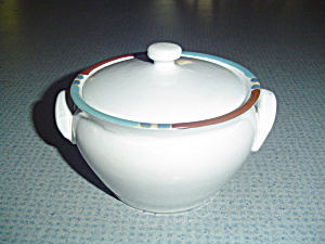 Dansk White Sands Covered Onion Soup Bowl