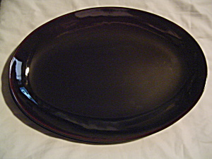 Calvin Klein Luna Mahogany Oval Platters - Brand New Never Used