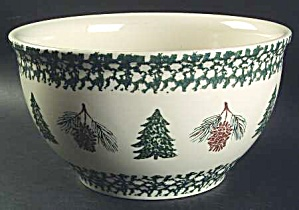 Tienshan Pine Cone/holiday Pines Large Mixing Bowl