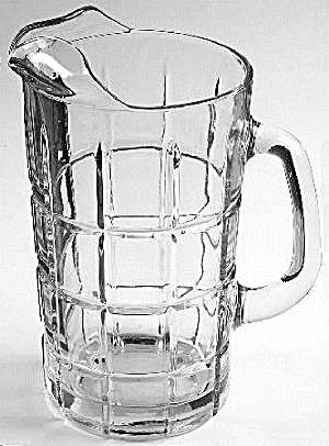 Anchor Hocking Clear Tartan Plaid 50 Oz. Serving Pitcher