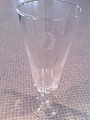 Crystal Fluted Champagne Glasses Roman Soldier Stamp