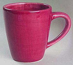 Pottery Barn Sausalito Merlot Red Tall Mugs