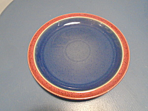 Denby Harlequin Blue Red Dinner Plates (Image1)