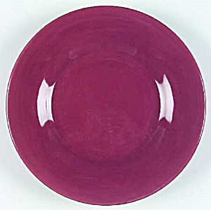 Pottery Barn Sausalito Merlot Red Dinner Plates