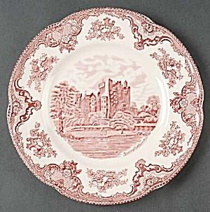 Johnson Bros Old Britain Castles Pink Dinner Plates Crown Stamp (Image1)