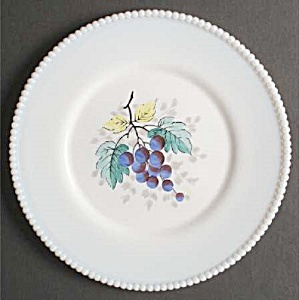 Westmoreland Hand Painted Beaded Edge Dinner Plate - Grapes