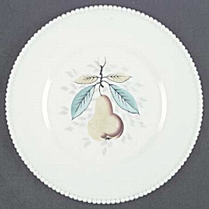 Westmoreland Hand Painted Beaded Edge Dinner Plate - Pears