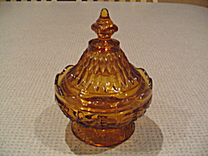 Vintage Indiana Glass Mt. Vernon Covered Candy Dish (Image1)