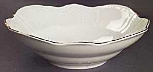 Baum Bros Formalities Bernadotte Ivory Round Serving Bowl