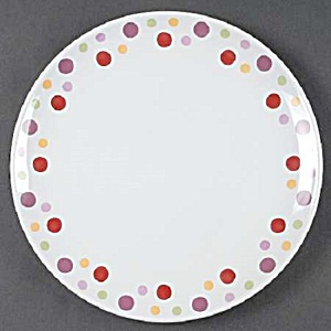 Pampered Chef Dots Simple Additions Dinner Plates