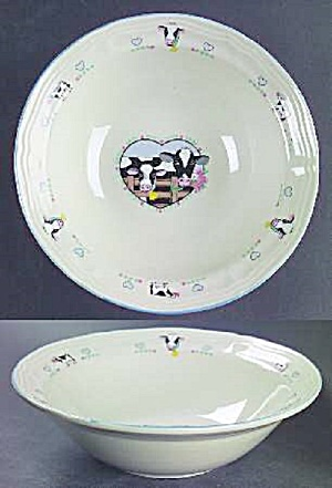 Tienshan Buttercup Cereal Bowls - Cows