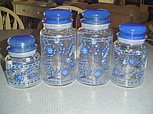 Pietro Gobeo Signed Canister Jars Set Of 4