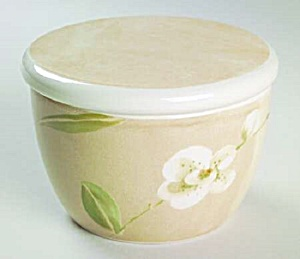 Crate & Barrel Orchid Covered Sugar Bowl (Image1)