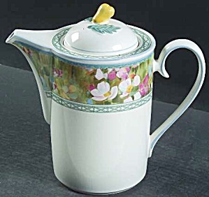 Mikasa Floral Meadow Coffee Pot - Brand New