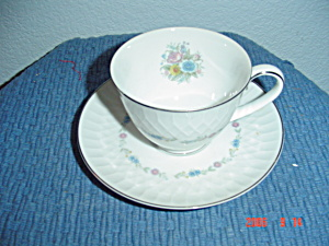 Noritake Minuet Cups And Saucers