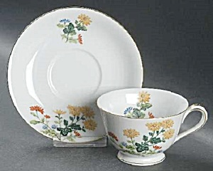 Noritake Sandra Cups And Saucers