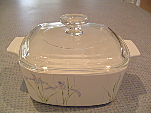 Corning Ware Shadow Iris 1.5 Quart Covered Casserole