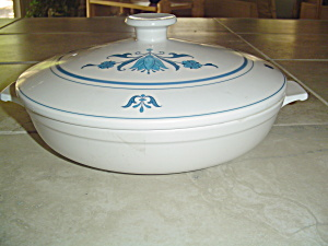 Noritake Blue Haven 1.5 Quart Covered Casserole