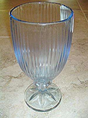 Fostoria Monet Stemmed Iced Tea Goblets/glasses Lt Blue