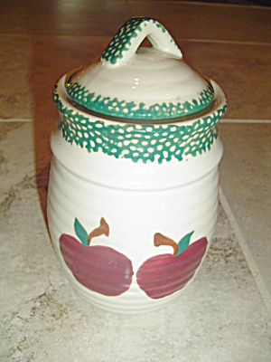 Alco Industries (International China) Applejack Covered Tea Canister
