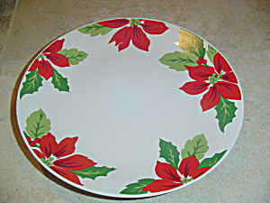 Martha Stewart Mse Poinsettia Dinner Plates