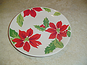 Martha Stewart Mse Poinsettia Lunch/salad Plates