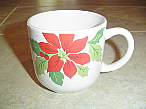 Martha Stewart Mse Poinsettia Mugs