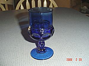 Indiana Glass Thumbprint Tiara Cobalt Water Goblets (Image1)
