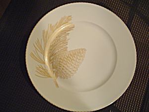 222 Fifth Gold Leaves Dinner Plates