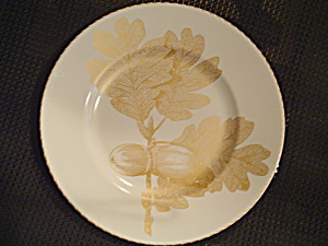 222 Fifth Gold Leaves Salad Plates 2 Acorns And Leaves