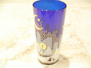 Noritake Twas Night Before Christmas Tumbler Cobalt
