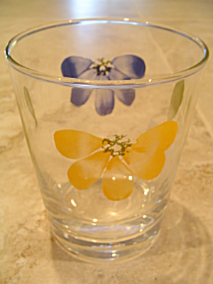 Maxam Italian Daisy Daisies Double Old Fashioned Glasses