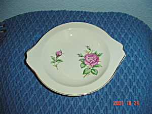 Paden City Potteries Pcp15 Pink Rose Handled Tray