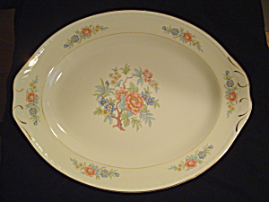Vintage Antique Homer Laughlin Bombay 16 In. Oval Platter