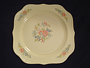 Vintage Antique Homer Laughlin Bombay Square Salad Plates