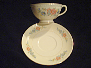 Antique Vintage Homer Laughlin Bombay Cups And Saucers